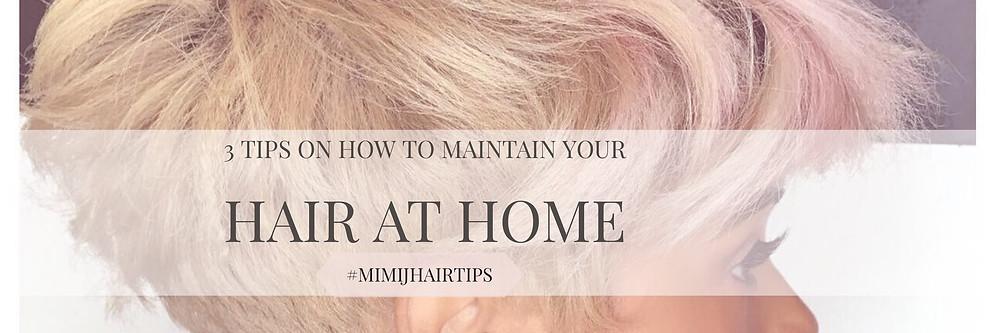 tips how to maintain black short hair between salon visits