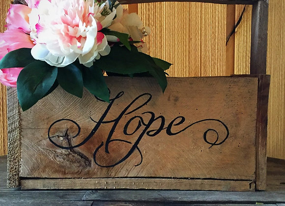 """Hope"" Wooden Basket"
