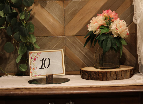 Table Numbers with Stand