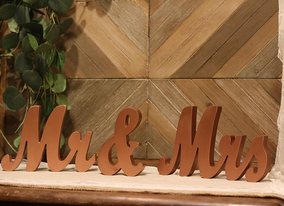 Mr & Mrs Rose Gold (3 Piece)