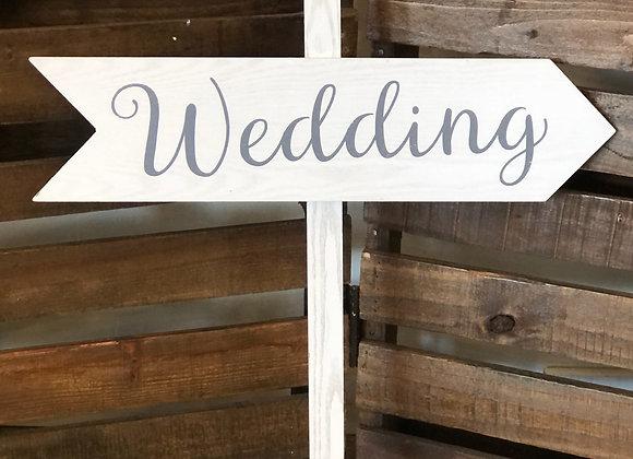 """White """"Wedding"""" Arrow"""