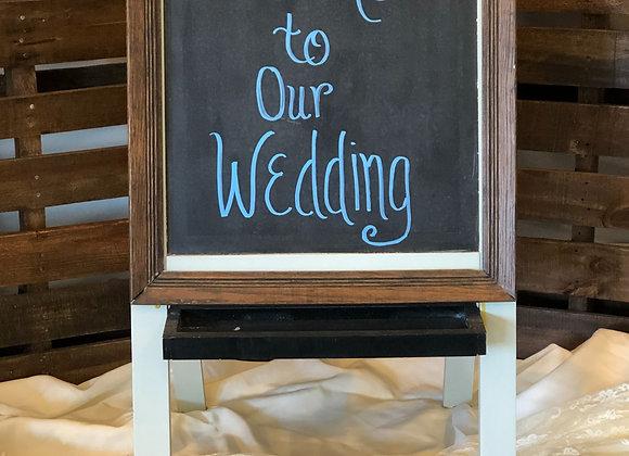 Frame Tent Chalkboard Sign
