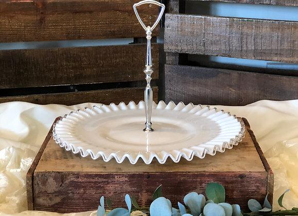 Fringe Glass Serving Platter