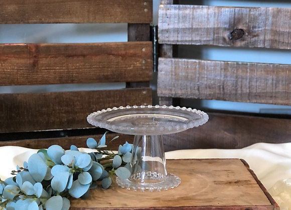 Small Clear Cake Stand
