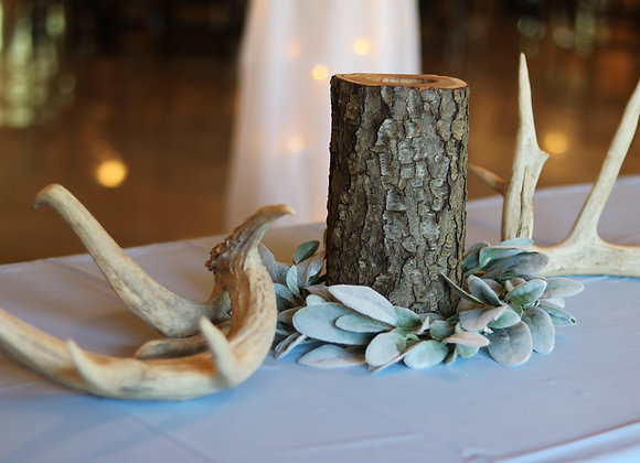 Log Candle holder