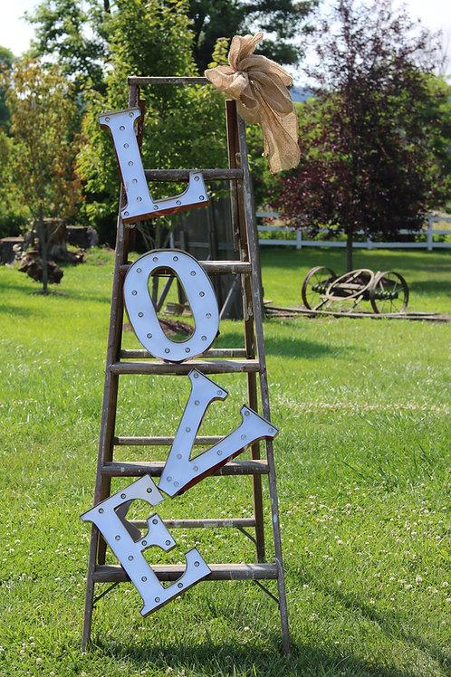 LOVE Ladder Lighted