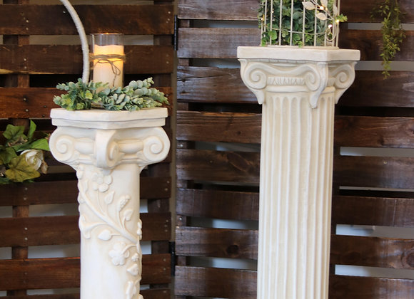 Short White Pillar