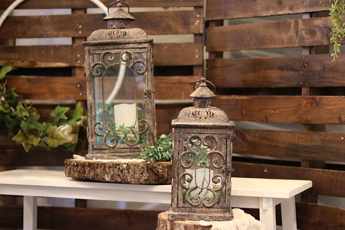 Large & Medium Bronze Flourish Lanterns