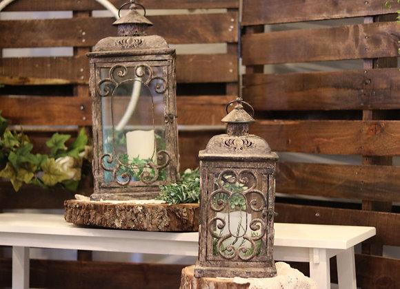 Large & Medium Bronze Flourish Lanterns