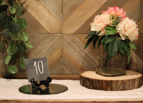 Slate Table Numbers with Stand