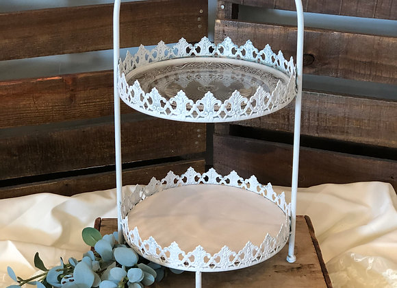 White Double Cake Stand