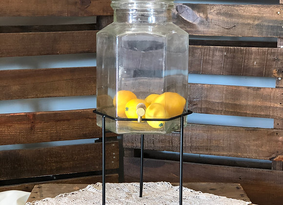 Glass Drink Dispenser and Stand