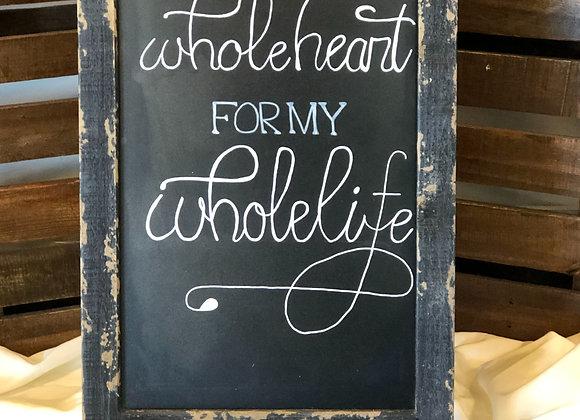 Black Tent Chalkboard Sign