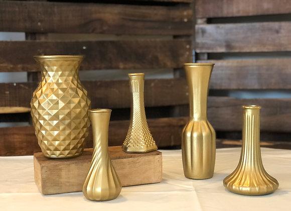 Variety Gold Vases