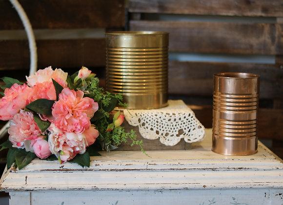 Gold & Bronze Metallic Flower Vase