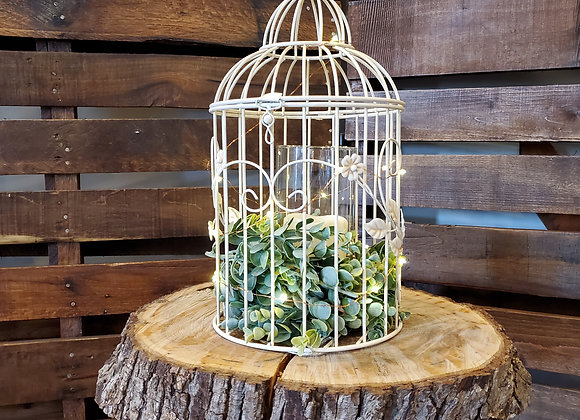 Floral Birdcage