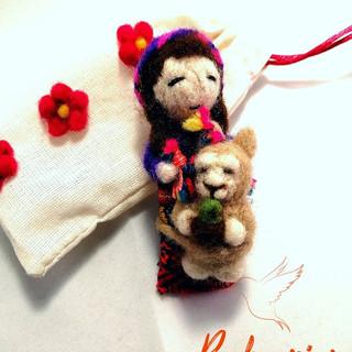 Muñequita Quitapenas y Baby Alpaca (PAKARIY)