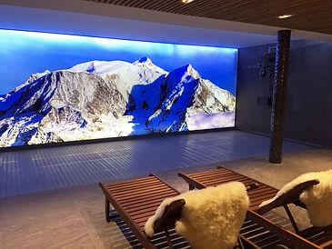 Decoration murale chalet montagne