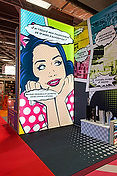 caisson toile tendue stand, communication stand, promotion stand, stand evenementiel,