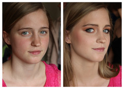 voor en na fotoshoot