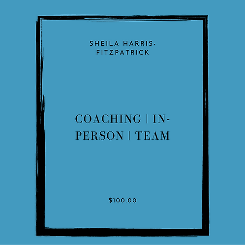 COACHING | IN-PERSON | TEAM