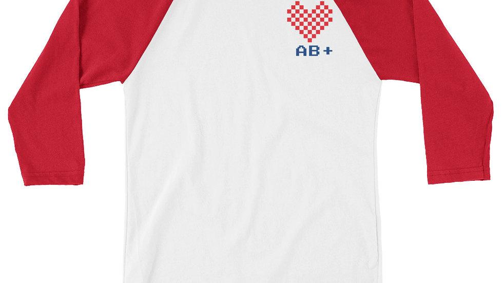 Love AB+ Unisex 3/4 RED