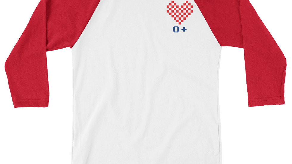 Love O+ Unisex 3/4 RED
