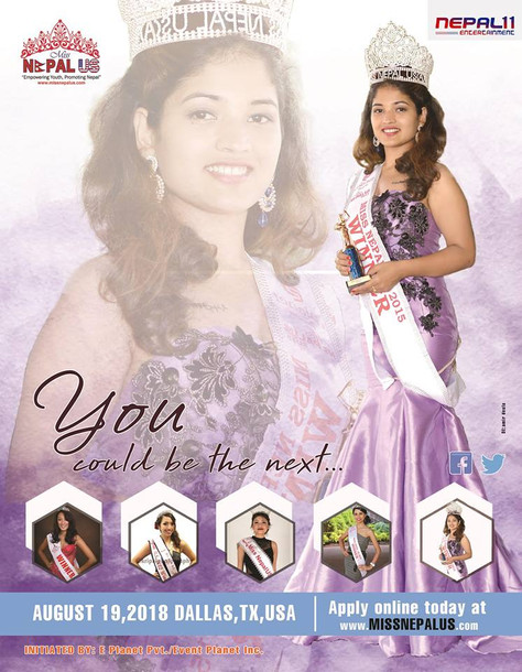 Application open now: Become 6th Miss Nepal US 2018