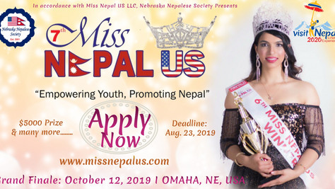 7th Miss Nepal US (2019) Announcement -Apply Now !