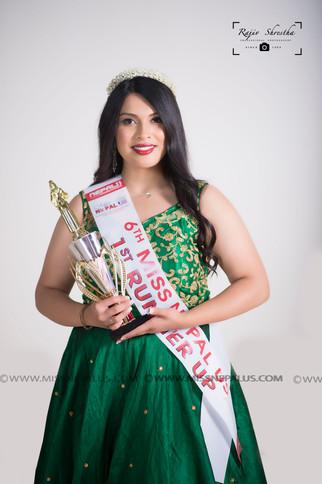 Posha Gharti Thapa- 1st Runner Up/Miss Culture/Miss Friendly/ Miss Personality