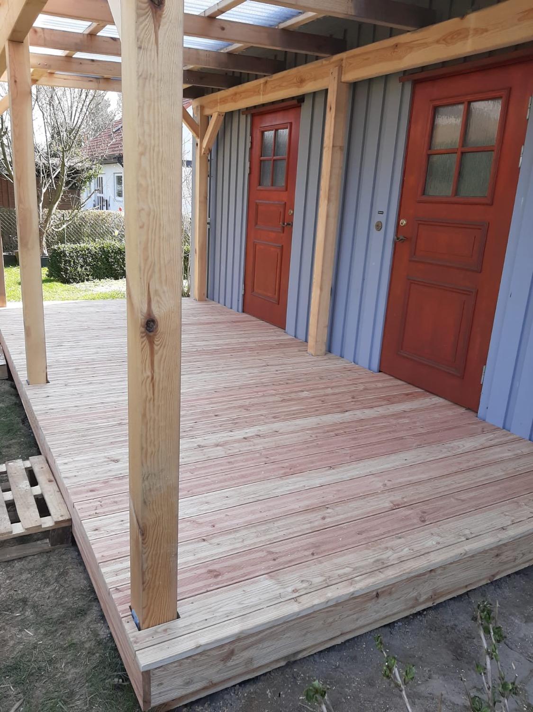 Aufbau Terrassenüberdachung
