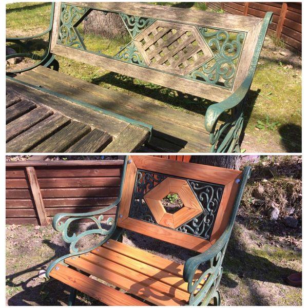 Restaurierung Gartenmöbel