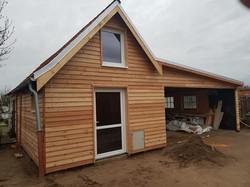 Neubau Badehaus mit Carport