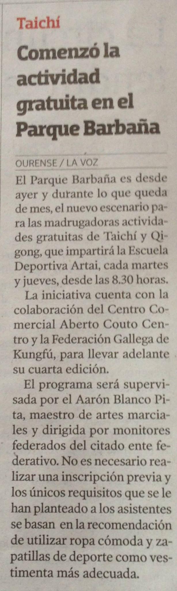 La voz de Galicia  08/07/2015