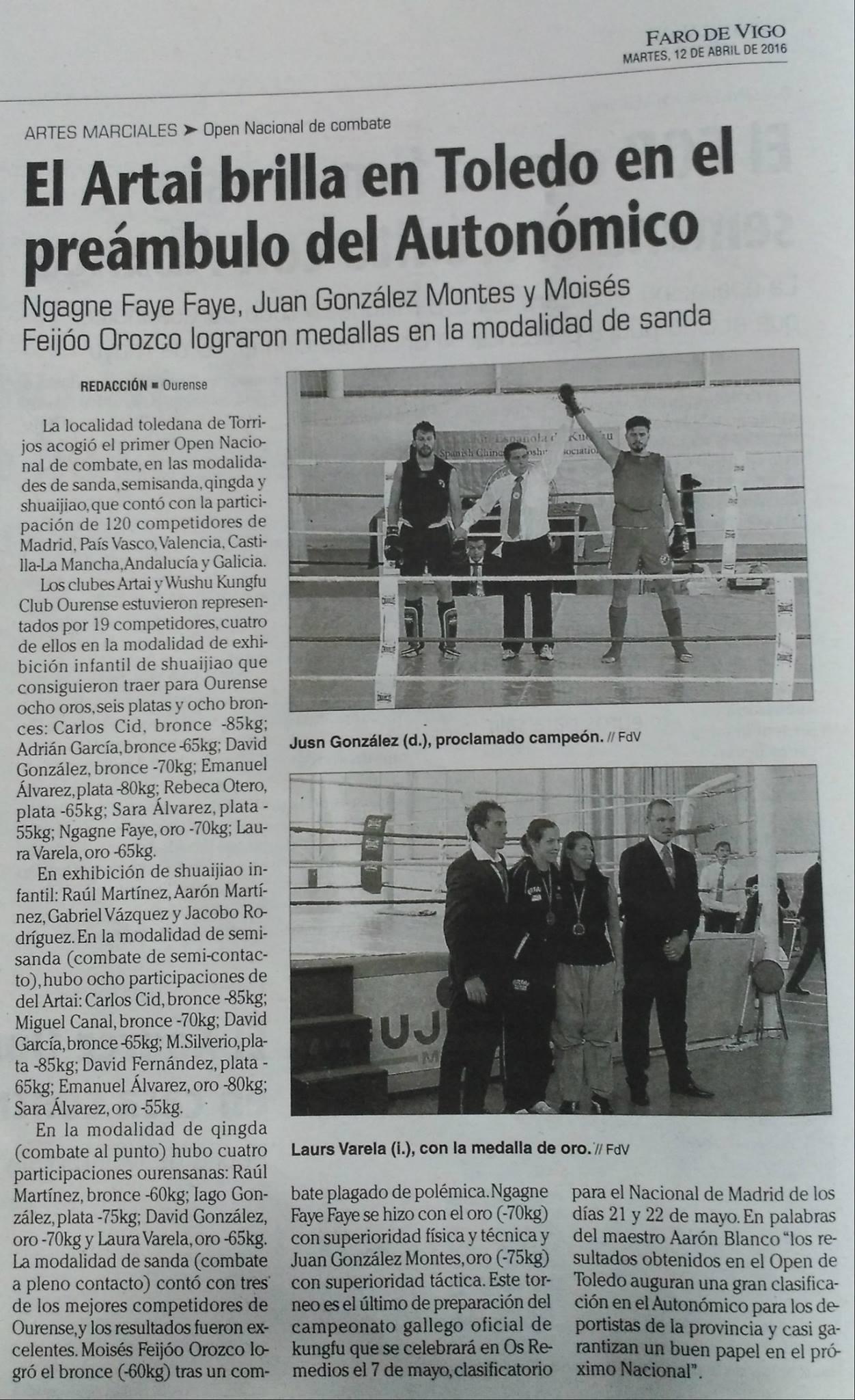 Faro de Vigo 12/04/2016