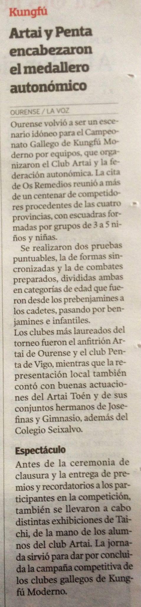 La Voz de Galicia  23/06/2015