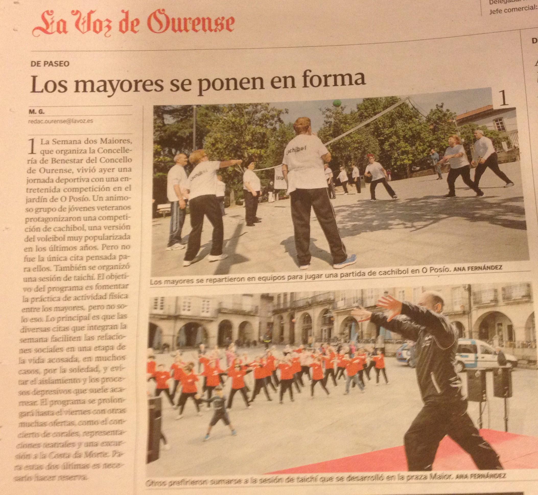 La Voz de Galicia 12/05/2015