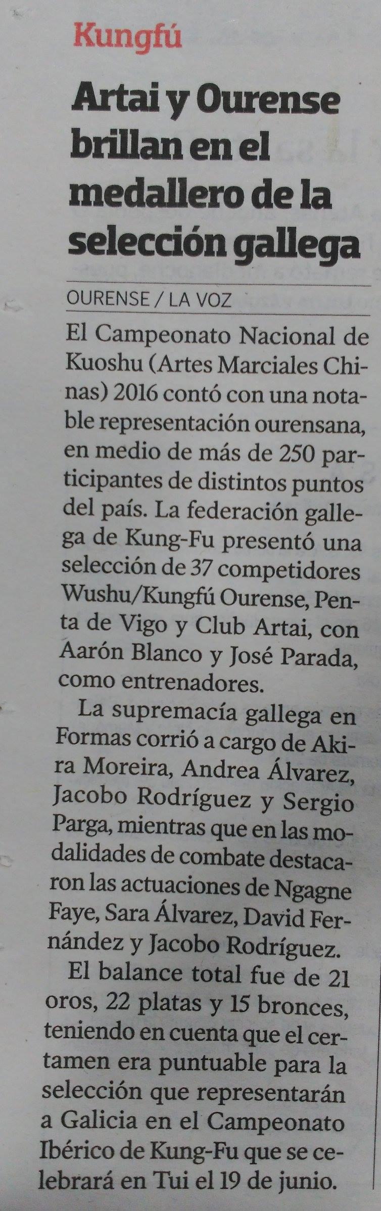 La voz de Galicia  24/05/2016