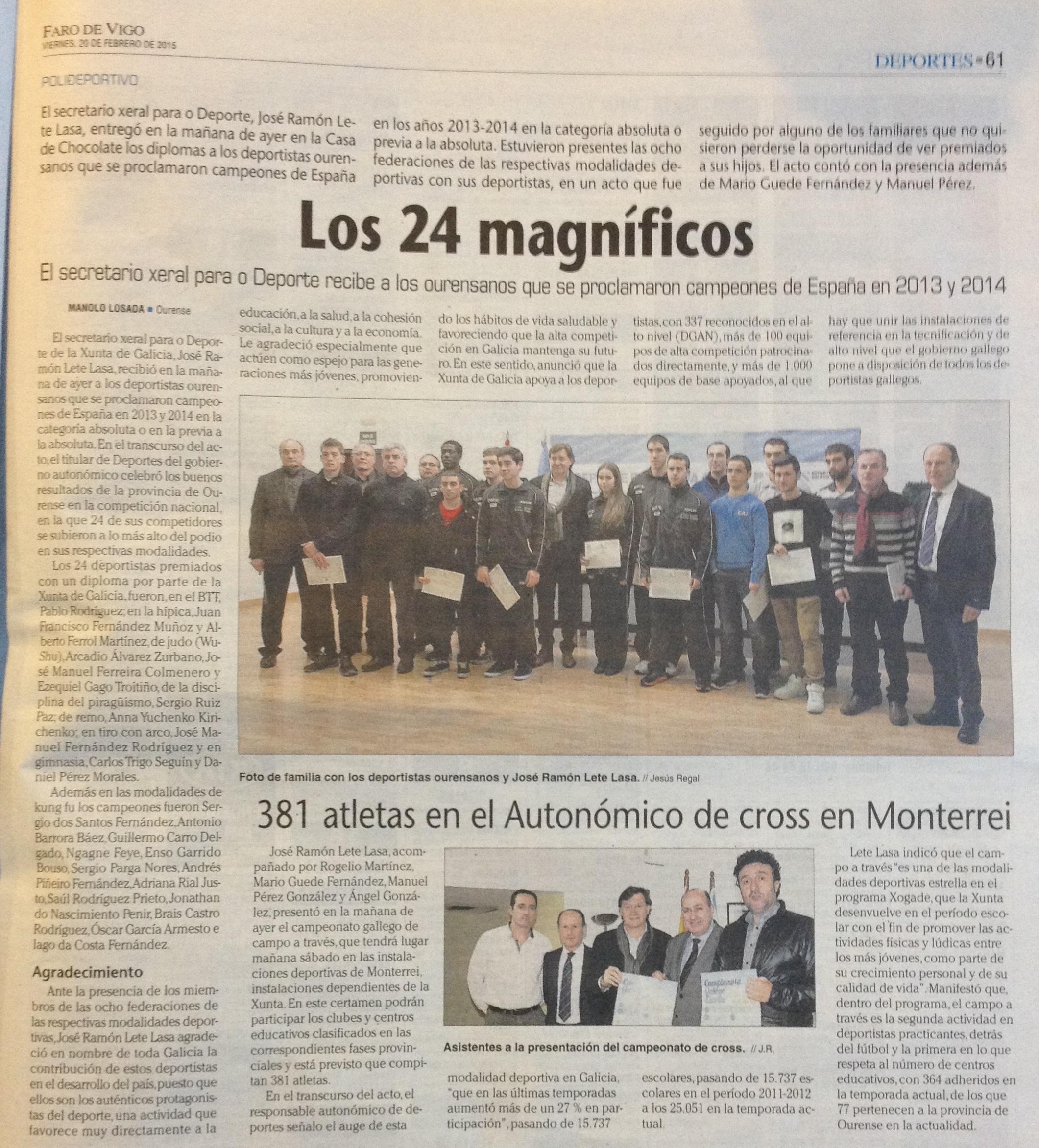 Faro de Vigo 20/02/15