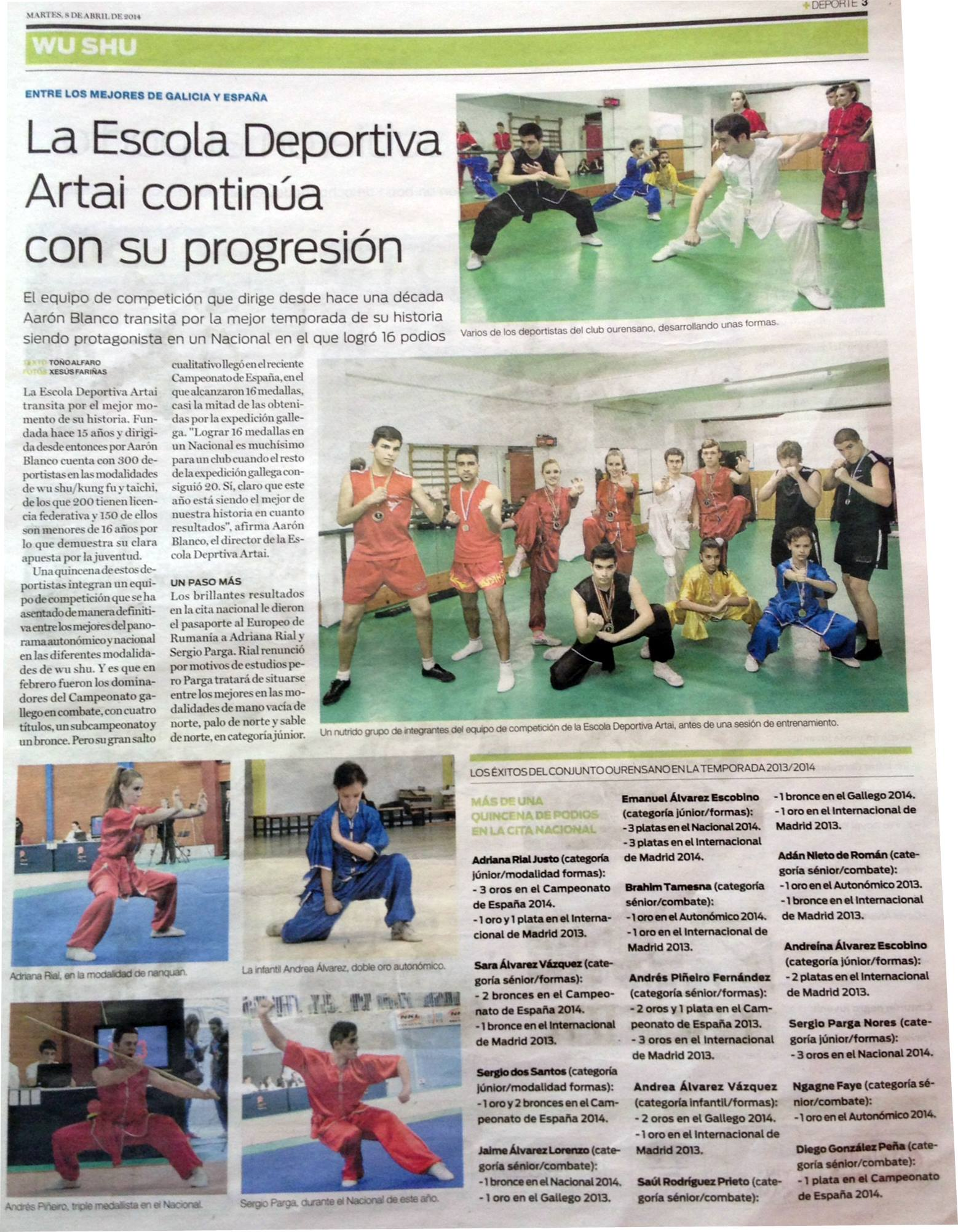 Suplemento +Deporte La Region 8/4/14