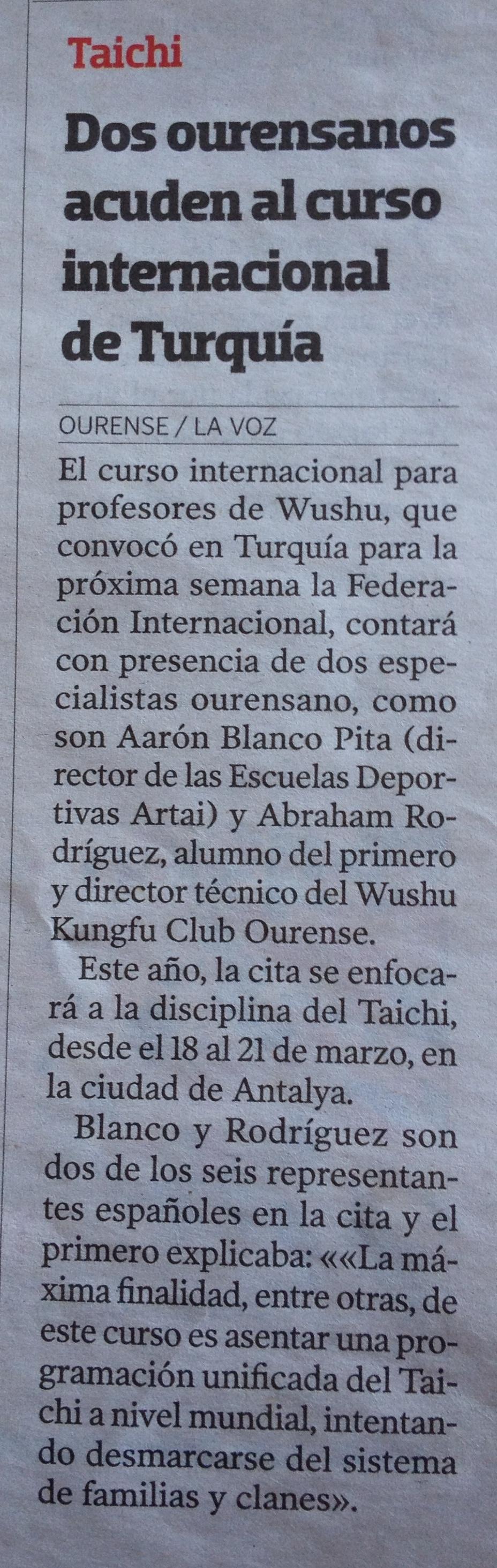 La Voz de Galicia 12/03/14