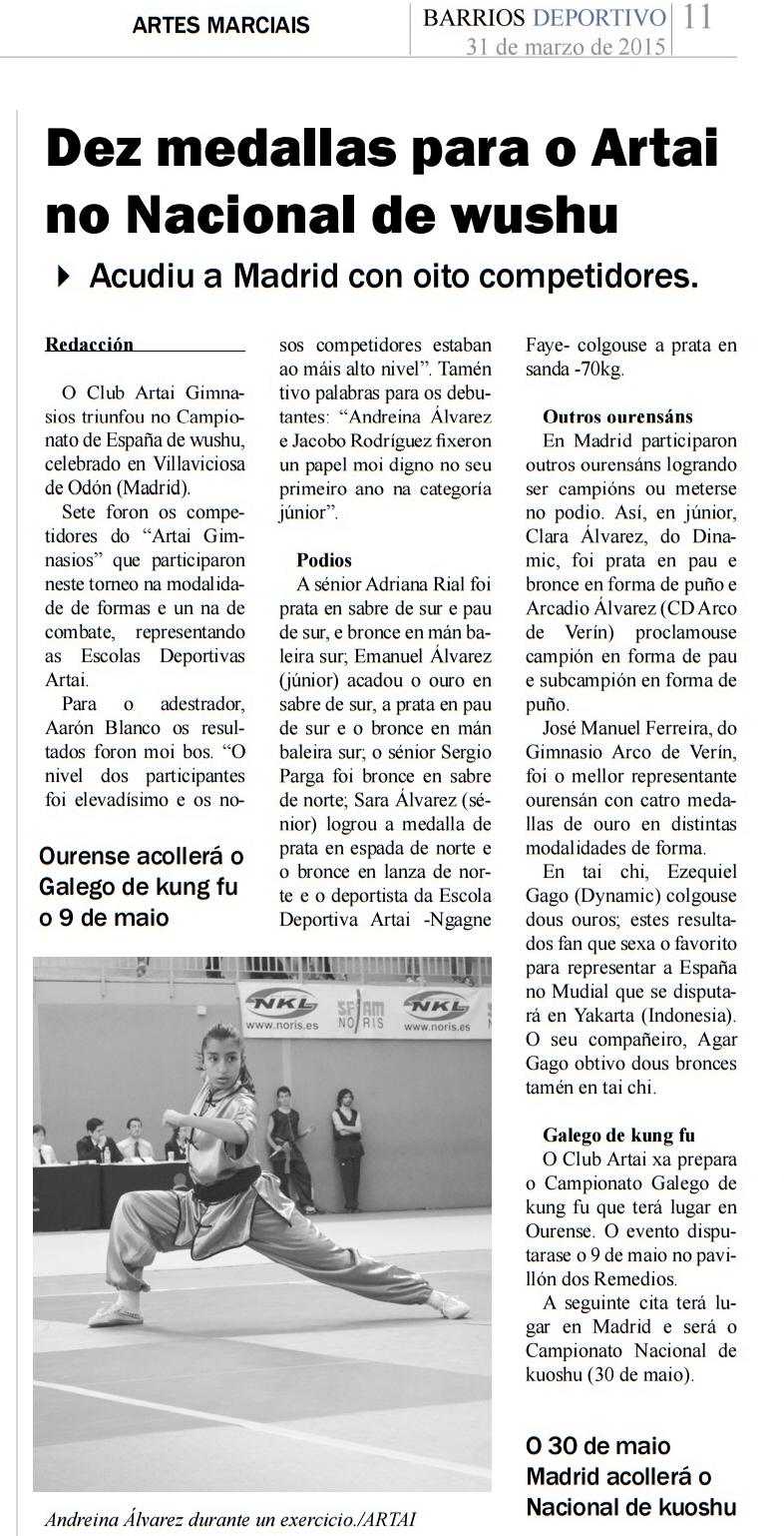 Barrios Deportivos 01/04/2015