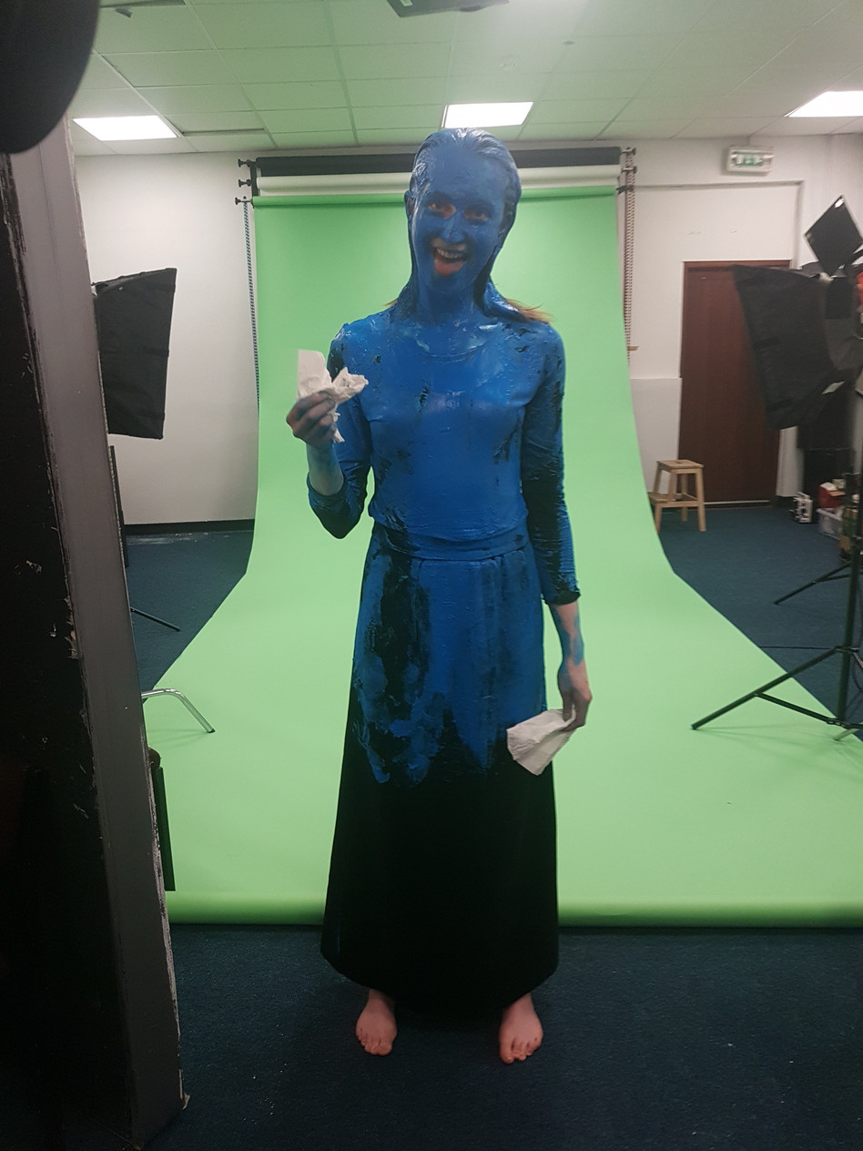 Green Screen Filming for our third year show 'What self imposed enigma did bloom'