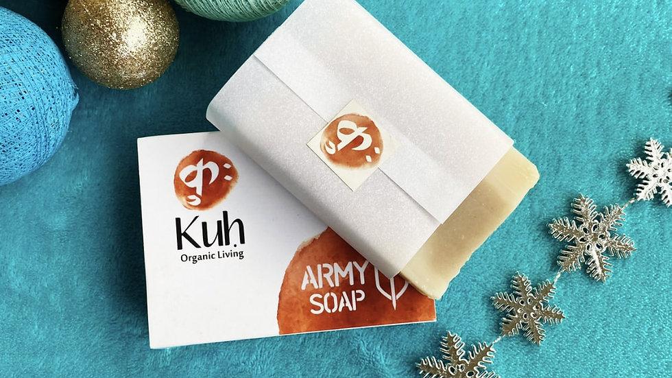 Kuh Organic's coconut army soap