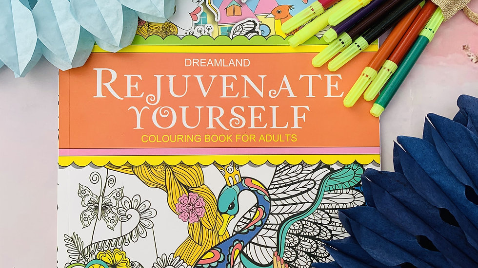 Adult Colouring Book + Sketch Pens