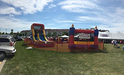 Bounce Houses setup at Lakeshore Weekend