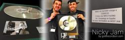 Nicky Jam Triple Disco de platino