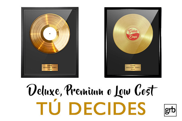 disco de oro personalizado