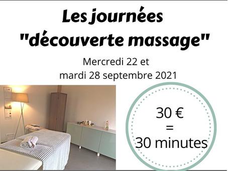 """Journée """"Découverte Massage"""""""