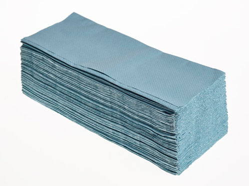 Z Fold Hand Towels- Blue